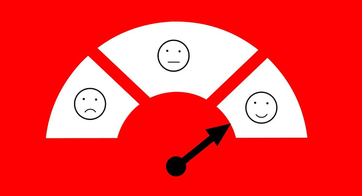 customer service scale ranging from bad, neutral, to good